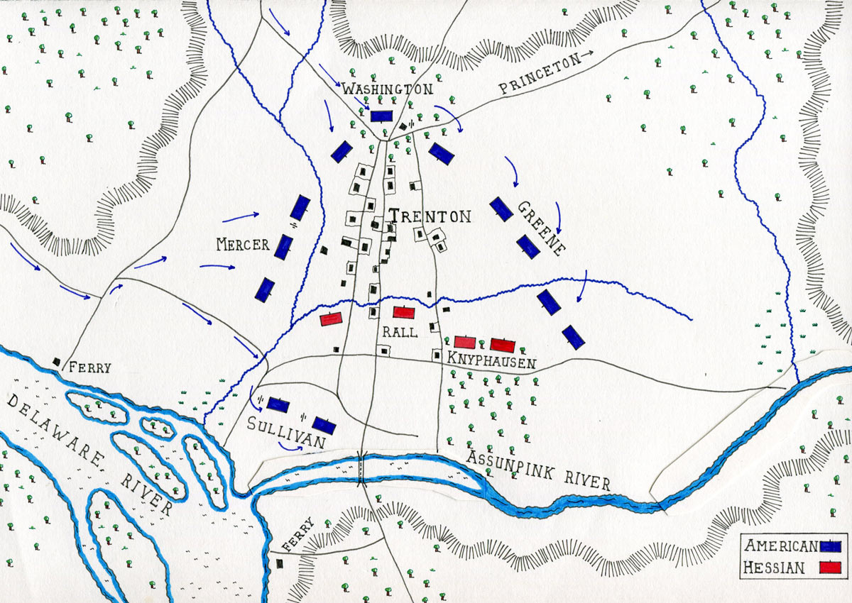 Battle Of Trenton - Battle of saratoga us maps