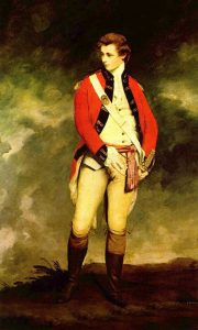 Colonel John St Leger: Battle of Saratoga on 17th October 1777 in the American Revolutionary War: picture by Joshua Reynolds: click here to buy a picture of Colonel St Leger