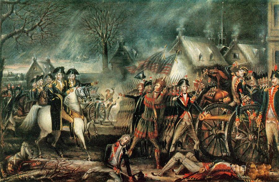 Battle of Trenton on 25th December 1776 in the American Revolutionary War