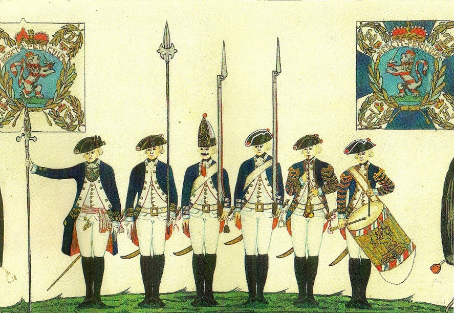 Hessian troops: Battle of Trenton on 25th December 1776 in the American Revolutionary War