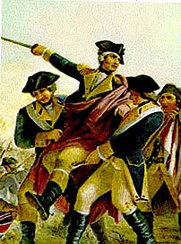 General Wayne carried from the field of the Battle of Paoli on 20th/21st September 1777 in the American Revolutionary War