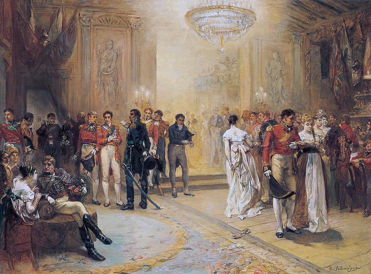 The Duchess of Richmond's Ball in Brussels on 15th June 1815: picture by Robert Alexander Hillingford