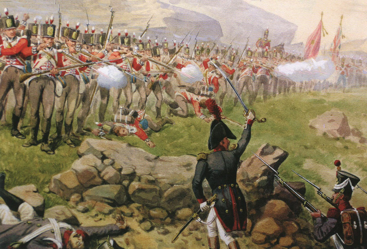 First Foot Guards at the Battle of Barossa on 5th March 1811 in the Peninsular War