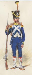 French Light Infantry: Battle of Albuera on 16th May 1811 in the Peninsular War