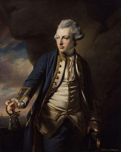 Admiral Sir John Jervis British commander at the Battle of Cape St Vincent on 14th February 1797 in the Napoleonic Wars: picture by Francis Cotes: buy a picture of Admiral Jervis