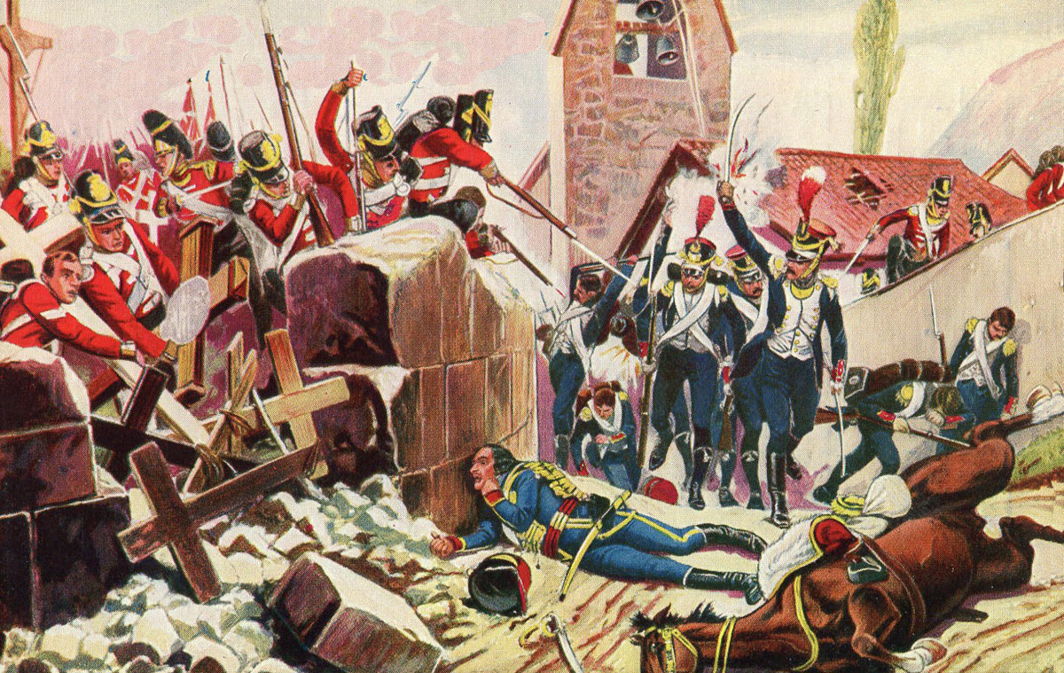 43rd Regiment under attack at the Battle of Vimeiro on 21st August 1808 in the Peninsular War: picture by Richard Caton Woodville