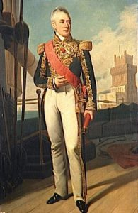 Admiral Villeneuve French commander at the Battle of Trafalgar on 21st October 1805 during the Napoleonic Wars
