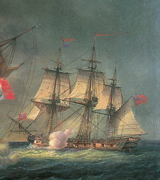 Captain Riou's ship HMS Amazon: Battle of Copenhagen on 2nd April 1801 in the Napoleonic Wars