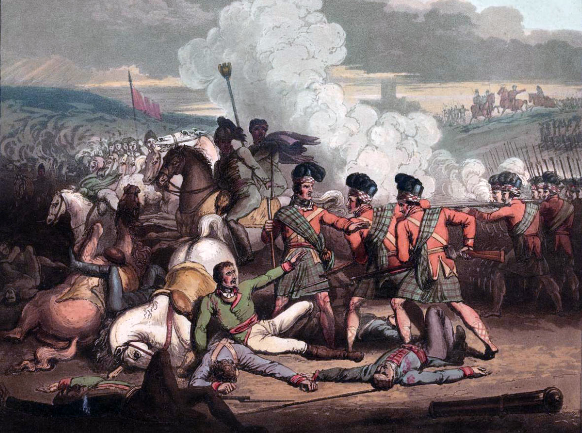 Capture of the French General Brenier by the 71st Highlanders at the Battle of Vimeiro on 21st August 1808 in the Peninsular War: picture by R. Westall