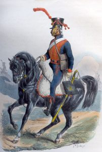 French Horse Artillery: Battle of the Passage of the Douro on 16th May 1809 in the Peninsular War: picture by Hippolyte Belange