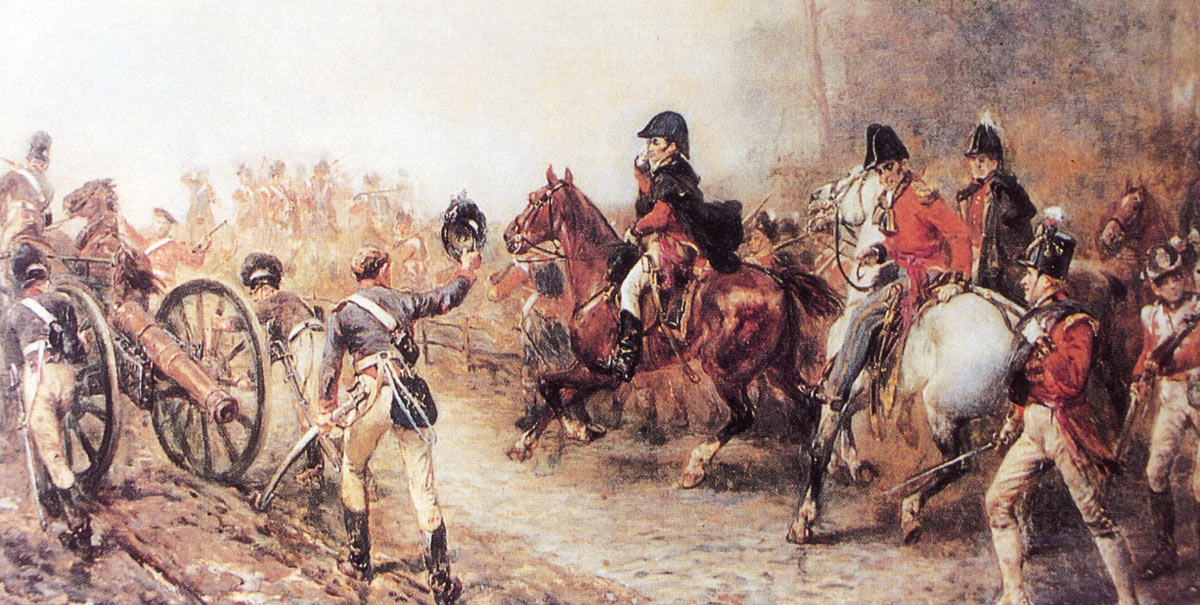 Duke of Wellington on the road to Quatre Bras on 16th June 1815