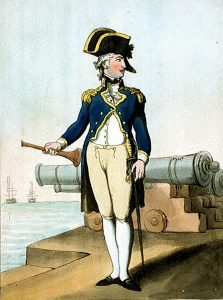 Captain in the Royal Navy: Battle of Trafalgar on 21st October 1805 during the Napoleonic Wars