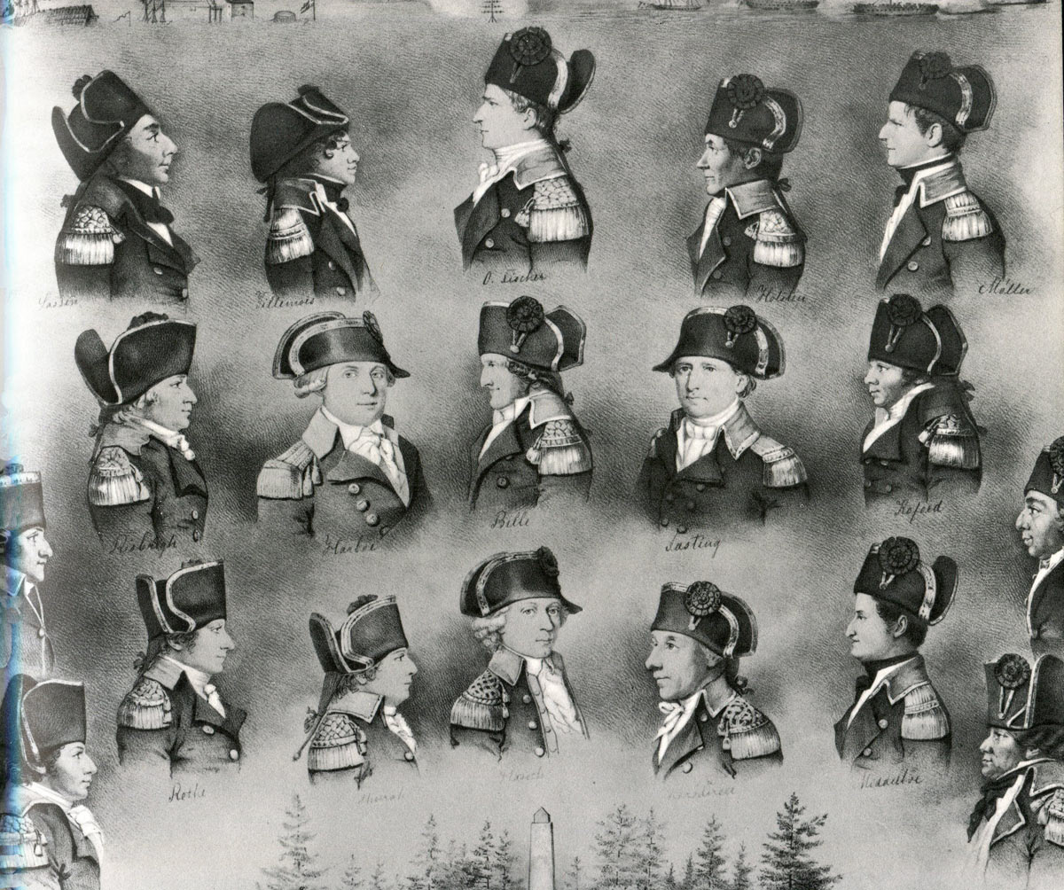 Danish captains who fought at the Battle of Copenhagen on 2nd April 1801 in the Napoleonic Wars