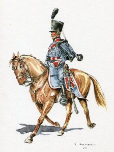 Dutch Hussar: Battle of Waterloo on 18th June 1815