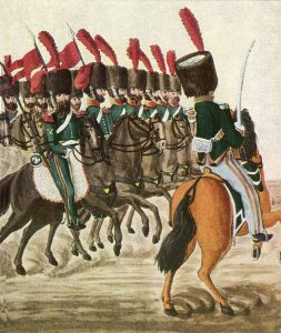 French Chasseurs à Cheval: Battle of Albuera on 16th May 1811 in the Peninsular War