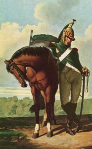 French Dragoon: Battle of Busaco on 27th September 1810 in the Peninsular