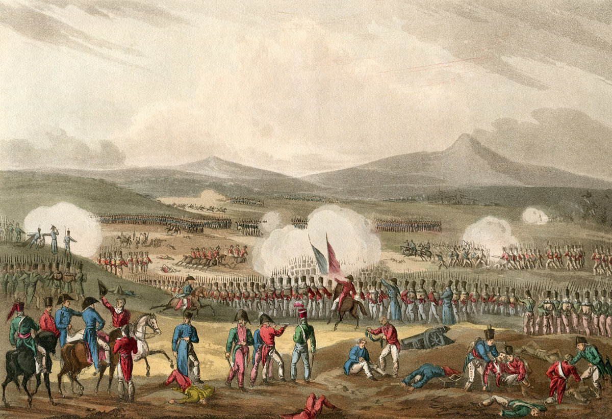 Battle of Fuentes de Oñoro 3rd to 5th May 1811 in the Peninsular War: picture by William Heath