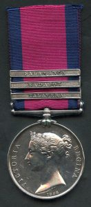 Military General Service medal 1793-1814 with clasps for Salamanca Talavera and Badajoz
