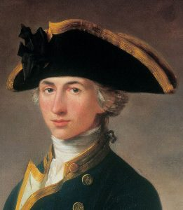 Commodore Horatio Nelson: Battle of Cape St Vincent on 14th February 1797 in the Napoleonic Wars: buy a picture of Captain Nelson