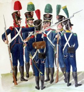 French Light Infantry: Battle of Vimeiro on 21st August 1808 in the Peninsular War: picture by Cristoph and Cornelius Suhl