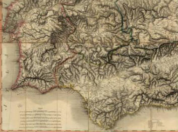 Tomas Lopes map: Battle of Busaco on 27th September 1810 in the Peninsular War