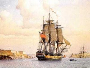 HMS Bellerophon: Battle of the Nile on 1st August 1798 in the Napoleonic Wars