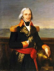 Admiral Brueys d'Aigalliers French commander killed at the Battle of the Nile on 1st August 1798 in the Napoleonic Wars: buy a picture of Admiral Brueys