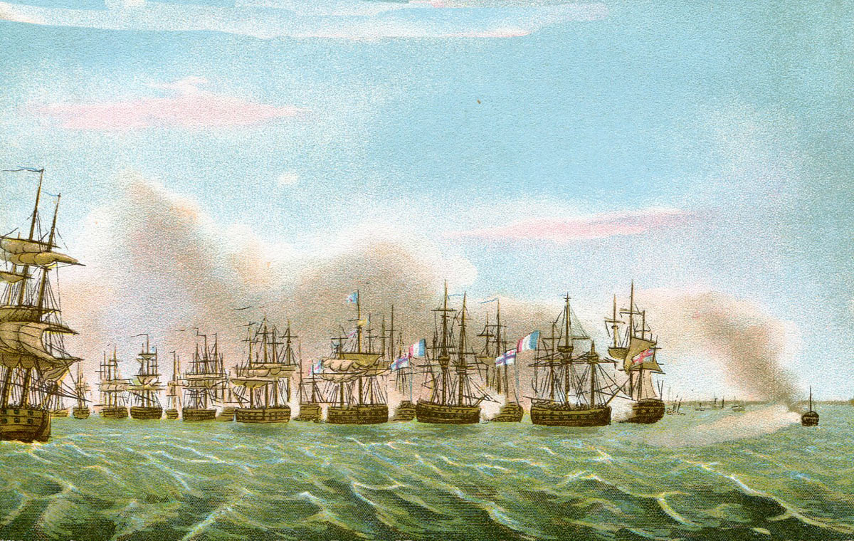 Beginning of the Battle of the Nile on 1st August 1798 in the Napoleonic Wars