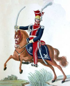 Officer of Polish Lancers: Battle of Albuera on 16th May 1811 in the Peninsular War: picture by Cristoph and Cornelius Suhl