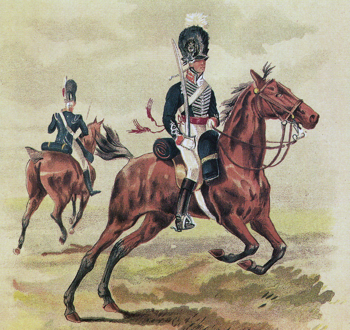 Officers of the 14th Light Dragoons: Battle of the Crossing of the Douro on 16th May 1809 in the Peninsular War