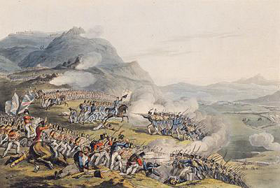 Battle of Busaco on 27th September 1810 in the Peninsular