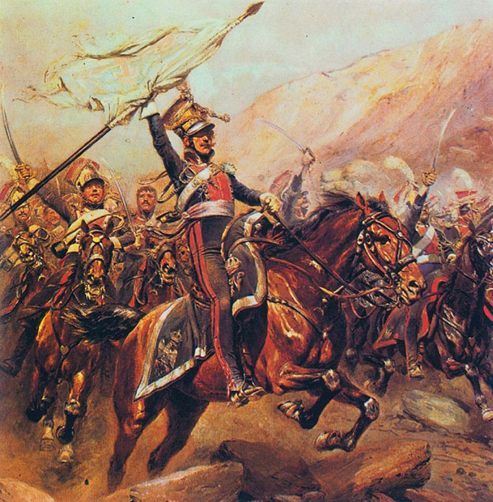 Polish Lancers of the French Army: Battle of Albuera on 16th May 1811 in the Peninsular War
