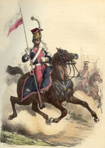 Polish Lancer of the French Army: Battle of Albuera on 16th May 1811 in the Peninsular War