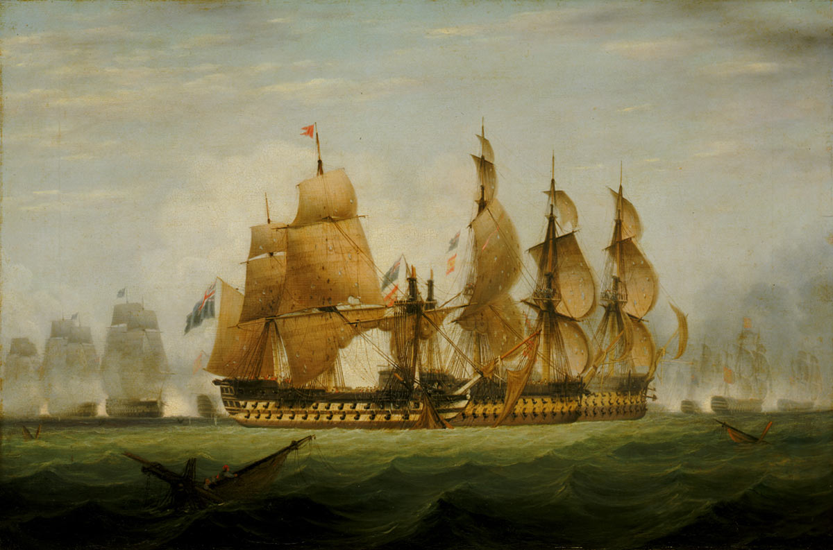 Battle of Cape St Vincent on 14th February 1797 in the Napoleonic Wars
