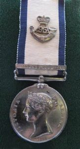 Naval General Service medal 1793-1840 with Copenhagen clasp and badge of 95th Rifles: Battle of Copenhagen on 2nd April 1801 in the Napoleonic Wars