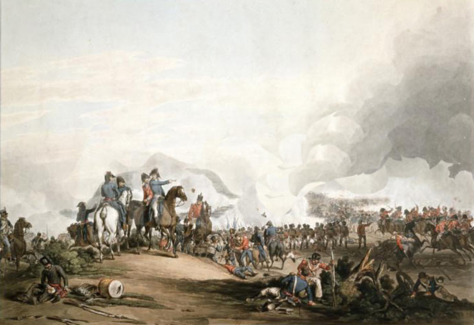 Battle of Salamanca on 22nd July 1812 during the Peninsular War: print by John Atkinson: buy this print