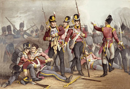 3rd Buffs at the Battle of Albuera on 16th May 1811 in the Peninsular War: buy this picture