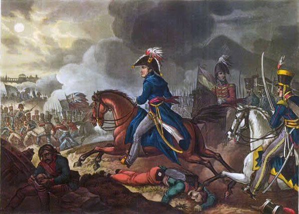 Wellington at the Battle of Salamanca on 22nd July 1812 during the Peninsular War: picture by William Heath: buy this picture