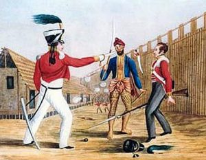 Soldiers of the 13th Foot and 35th Bengal Native Infantry in Jellalabad: Siege of Jellalabad from 12th November 1841 to 13th April 1842 during the First Afghan War