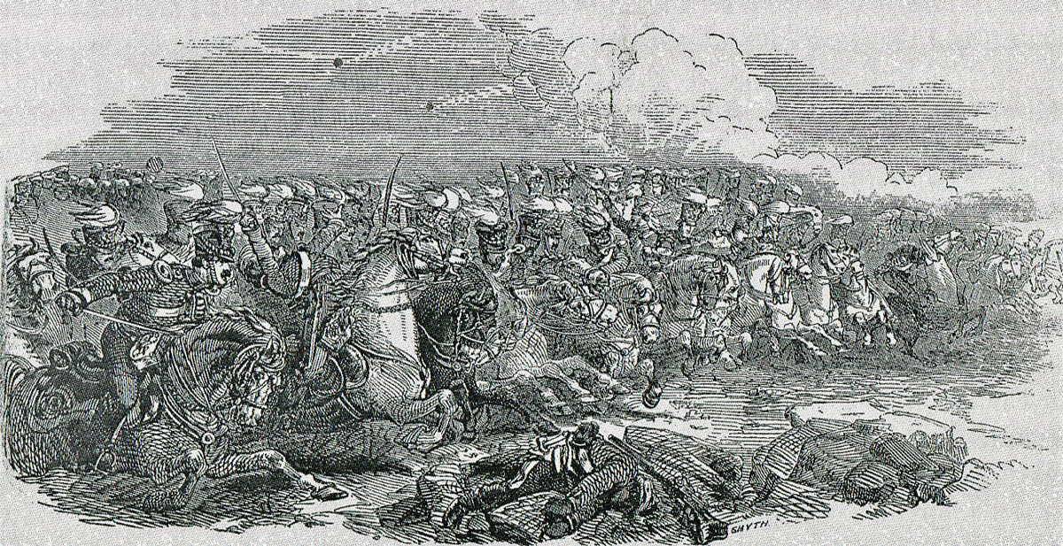 14th King's Light Dragoons at the Battle of Ramnagar on 22nd November 1848 during the Second Sikh War