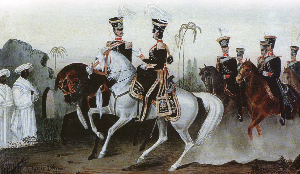 Arrival in India of the 14th King's Light Dragoons in 1842: Battle of Ramnagar on 22nd November 1848 during the Second Sikh War