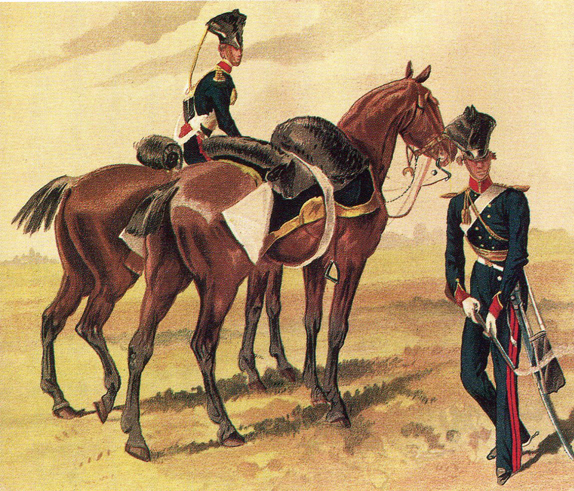 Piquet of the 14th King's Light Dragoons in 1842: Battle of Ramnagar on 22nd November 1848 during the Second Sikh War
