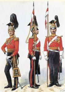 16th Queen's Lancers: Battle of Sobraon on 10th February 1846 during the First Sikh War: picture by Richard Simkin