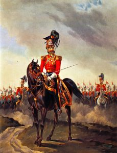 HM 16th Lancers: Battle of Ghuznee on 23rd July 1839 in the First Afghan War: print by Ackermann