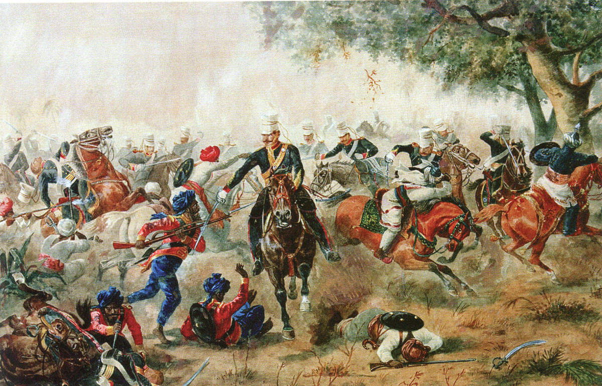 British Light Dragoons at the Battle of Goojerat on 21st February 1849 during the Second Sikh War