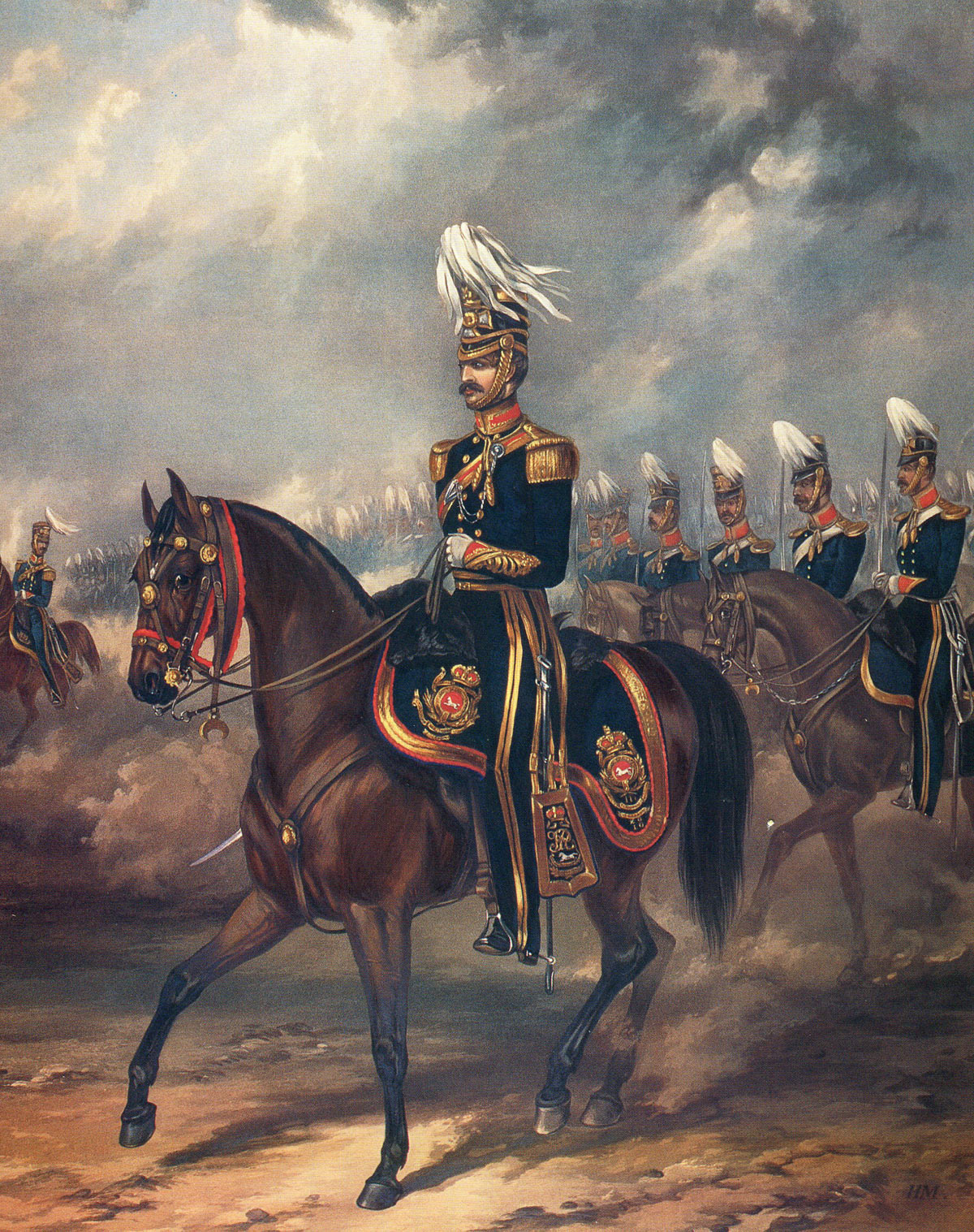 3rd King's Own Light Dragoons: Battle of Moodkee on 18th December 1845 during the First Sikh War: picture by Ackermann