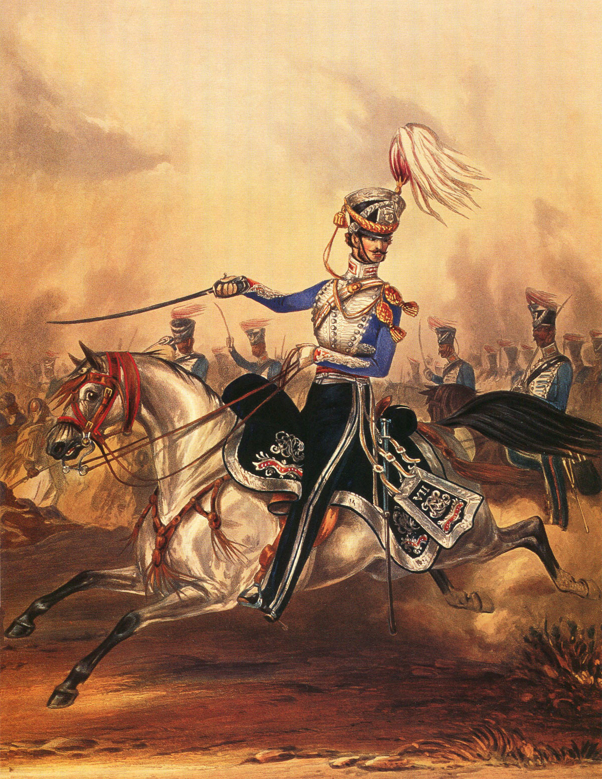 7th Bengal Light Cavalry: Battle of Moodkee on 18th December 1845 during the First Sikh War: picture by Ackermann