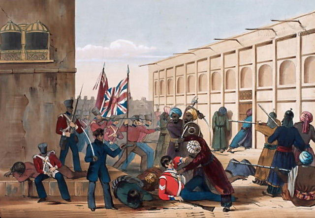 Battle of Ghuznee on 23rd July 1839 in the First Afghan War
