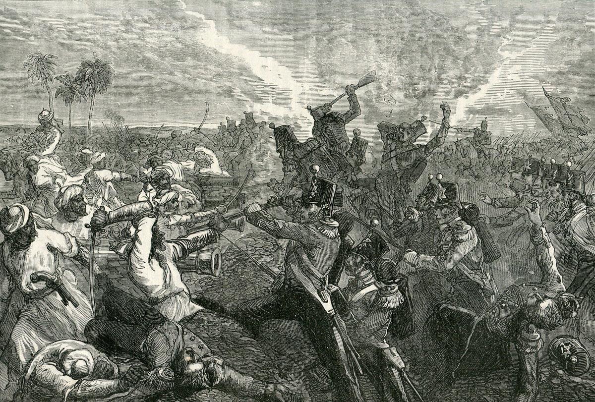 Battle of Ferozeshah on 22nd December 1845 during the First Sikh War