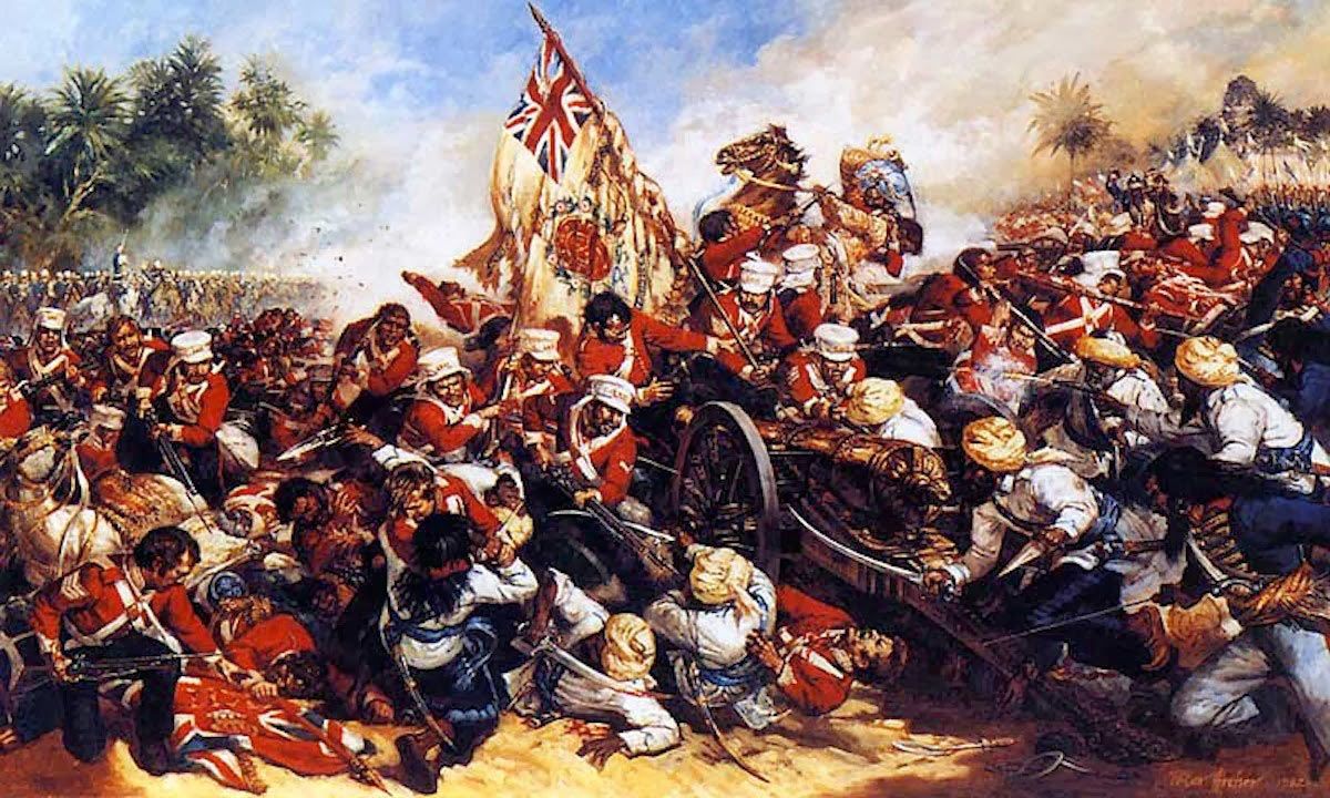 HM 29th Foot in the British attack on the Sikh Camp at the Battle of Ferozeshah on 22nd December 1845 during the First Sikh War